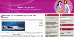Acupressure mat review by 'Two Classy Chics'
