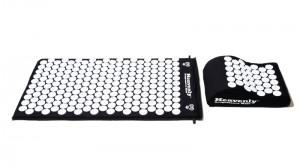 Black Acupressure Mat Pillow Combo