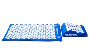 Blue Acupressure Mat Pillow Combo