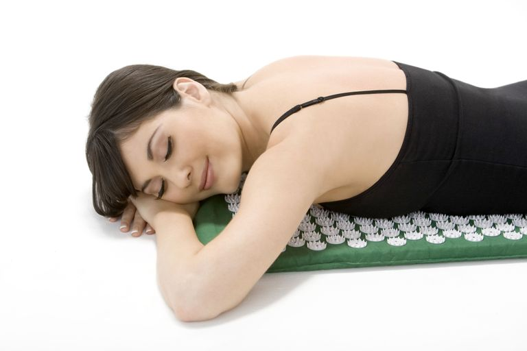 Acupressure mat - stomach position
